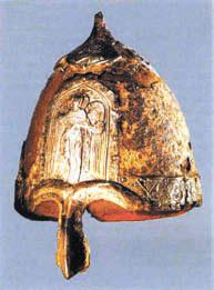 Шлем князя Ярослава-Федора Всеволодича с изображением святого