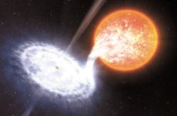 Система из черной дыры и гигантской звезды. Фантазия художника (ESO/L.Calada)