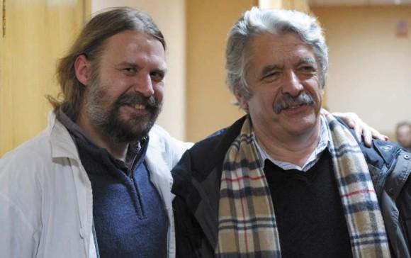 На снимке: Бронислав Гонгальский и Александр Осипов. Фото И. Щурова
