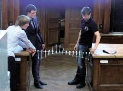 СУНЦ МГУ демонстрирует солитон