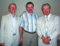 Слева направо: В.П.Слободянин, И.А.Иоголевич, С.М.Козел. (Фото Н.Деминой)