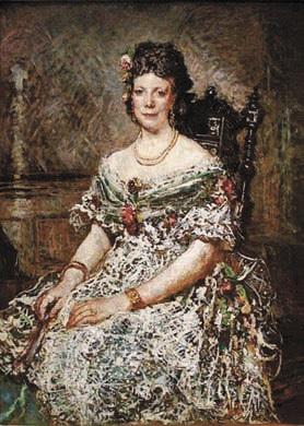 А. Монтичелли. Портрет мадам Паскаль