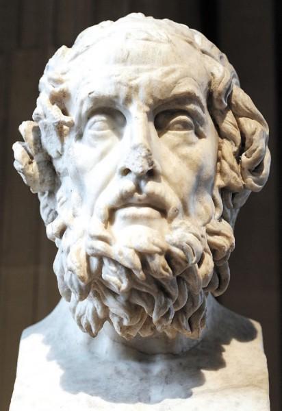 Бюст Гомера из палаццо Каетани. Римская копия II Века н.э. греческого оригинала II века до н.э. Хранится в Лувре