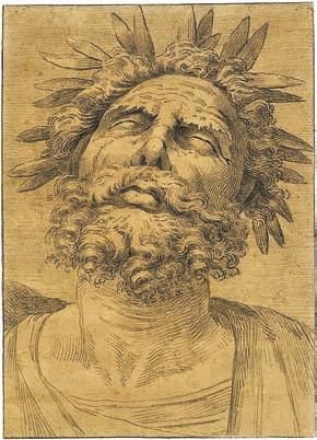 Гомер в лавровом венке. Италия, около 1700 года