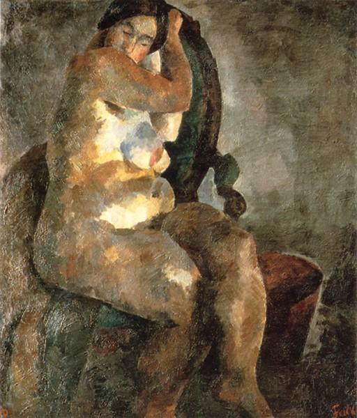 Р. Фальк. Обнаженная в кресле (1922)