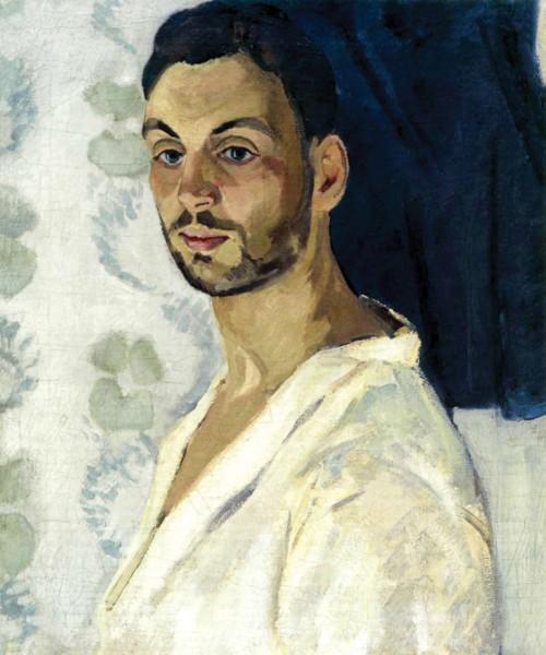 Р. Фальк. Автопортрет на синем фоне (1909)