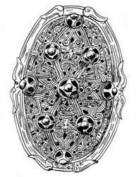 Скандинавская фибула (застежка женского плаща)
