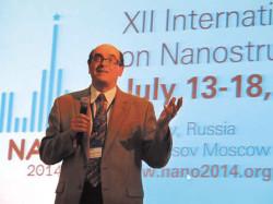 Александр Кабанов на Конференции NANO2014.  Фото Н. Деминой