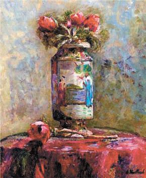 Анемоны в китайской вазе