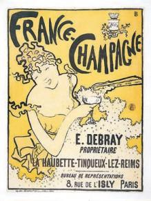 Плакат — реклама французского шампанского