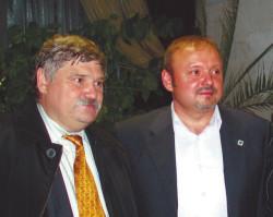 Виктор Сиднев и его преемник на посту главы Троицка Владимир Дудочкин