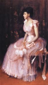 Портрет дамы в розовом. 1889 год