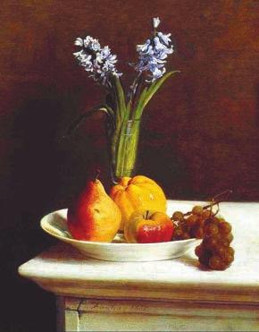 Гиацинты и фрукты