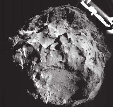 Поверхность кометы незадолго до касания ее Philae