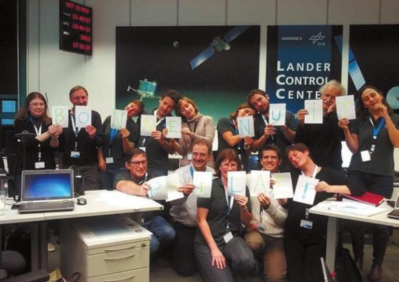 Команда Philae прощается с зондом. Фото ЕSA