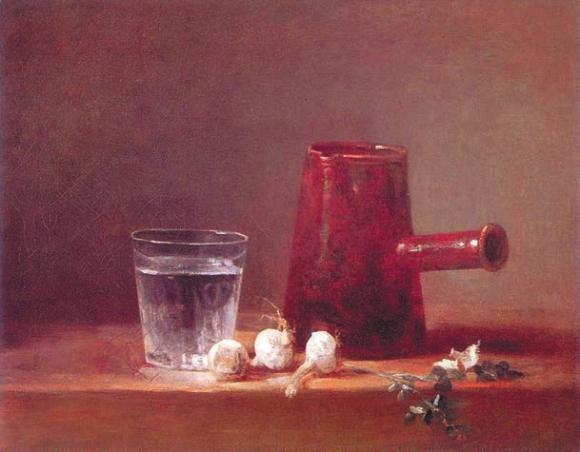 Стакан воды и кофейник. 1760