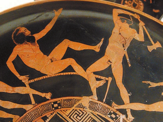 Тесей убивает Прокруста. V век до н.э.