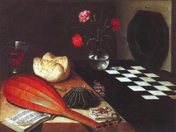 Натюрморт с шахматной доской. 1630