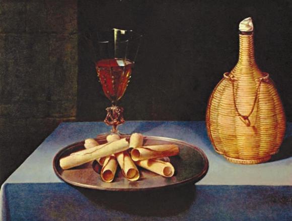 Натюрморт с вафлями. 1630–1635