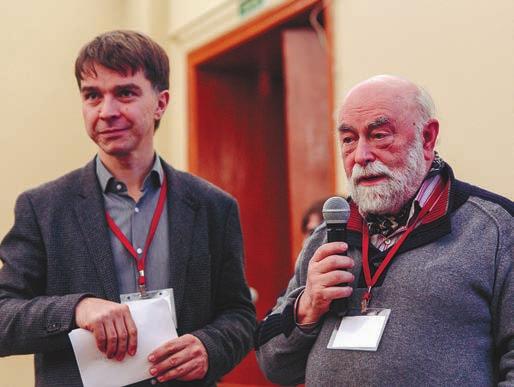 С. Смирнов, А. Вершик. Фото С. Коробковой (ЕУСПб)