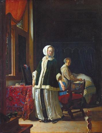 Утро молодой дамы. Франс ван Мирис (1632–1681)
