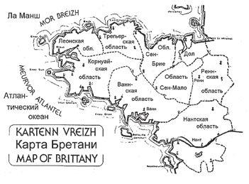 Карта Бретани