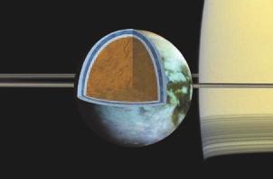 9. Соленые моря Титана. То, что на Титане, втором по величине спутнике Солнечной системы, есть не только моря из углеводородов, но и подледный водный океан, было известно сравнительно давно. Однако новые данные Cassini говорят о том, что это не просто океан, а очень соленый океан. Судя по всему, соленость его сопоставима с соленостью Мертвого моря.