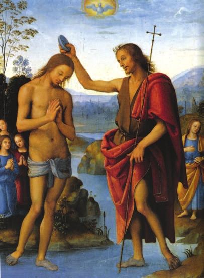 Перуджино. Крещение Христа