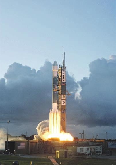 Запуск ракеты Delta II с аппаратом Dawn. Мыс Канаверал, 27 сентября 2007 года.