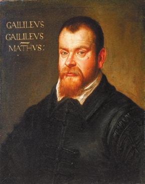 Галилео Галилей, портрет Доменико Робусти (1605–1607)
