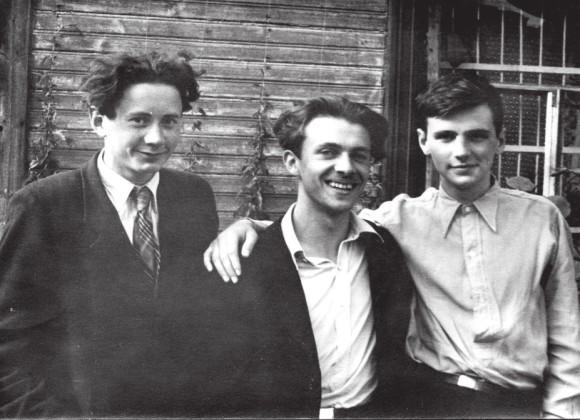 Анатолий Абрамович, Леонид Никольский, Андрей Зализняк (в 16 лет в 1951 году)