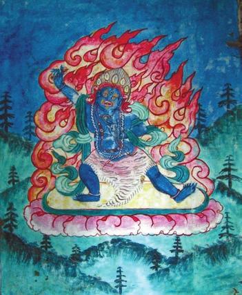 Кедры в буддийском сюжете. Читкуль (3400 м н.у.м.) Фото А. Норко. 2 октября 2011 года
