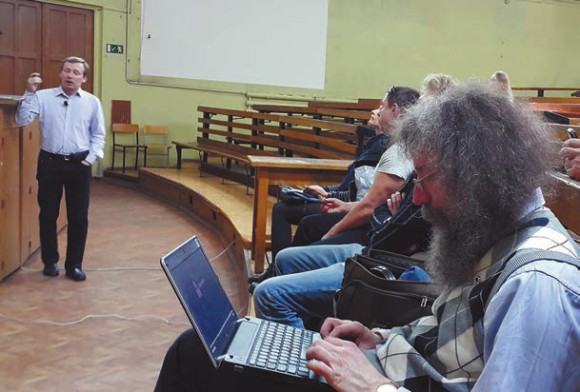 Лекцию читает Е. Шеваль
