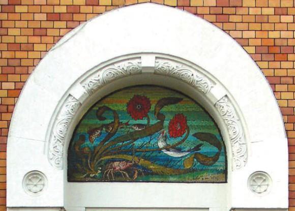 Дом Листа, мозаичное панно