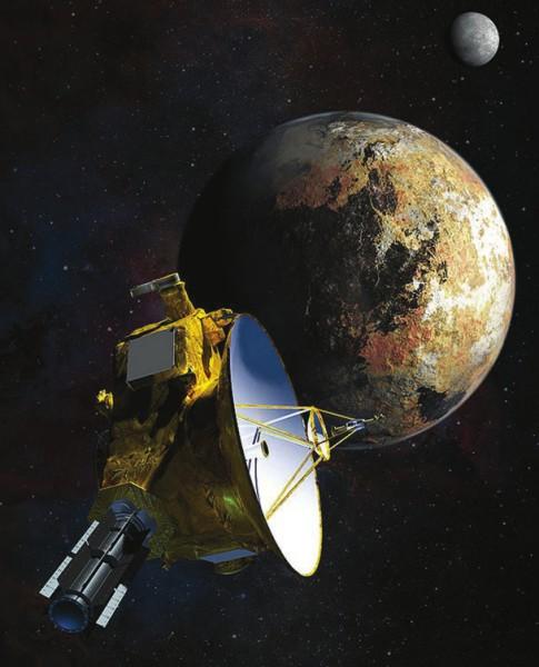 Аппарат «Новые горизонты» сближается с Плутоном (в представлении художника). Фото NASA/JHU APL/SwRI/Steve Gribben