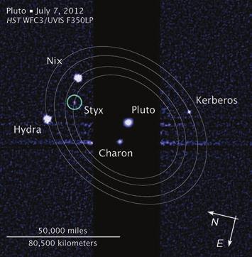 С 2005 по 2012 год космический телескоп «Хаббл» помог обнаружить у Плутона четыре небольших спутника