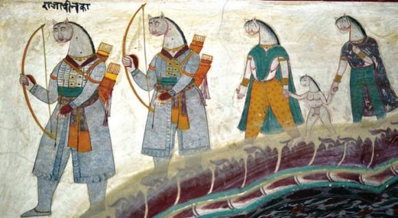 Росписи дворца на разные темы. 2 июня 2015 года