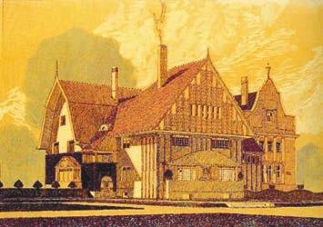 Дома в колонии художников около Дармштадта (Mathildenhöhe) (почтовая открытка)