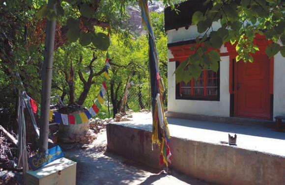 Буддийский монастырь в арианской деревне