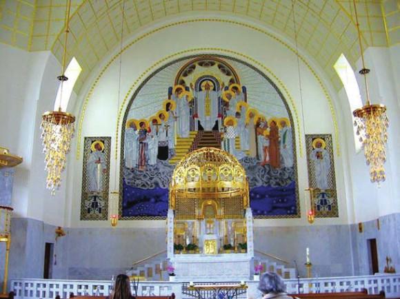 Оформление интерьера храма Св. Леопольда (Вена)