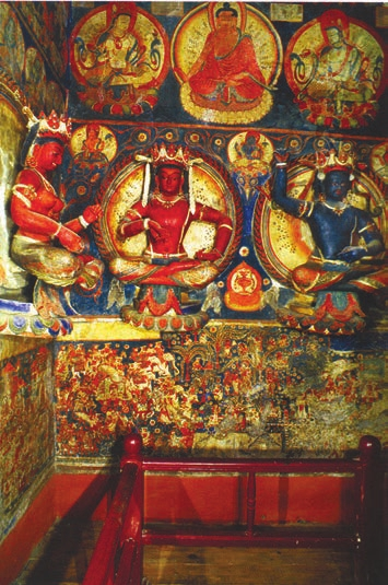 Табо. Интерьер главного храма, зал собраний (Klimburg-Salter, 2005)
