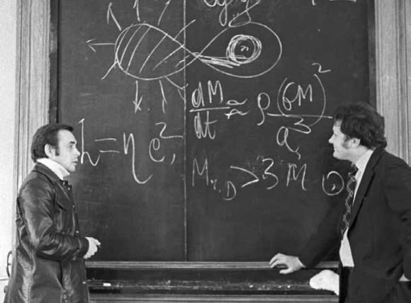 Работа в тандеме. Н. И. Шакура и Р. А. Сюняев, 1979 год.  Фото из архива фотолаборатории ГАИШ МГУ