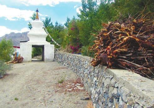 Вход в виде чортена на территорию женского монастыря. Зангла. Фото А. В. Андреева