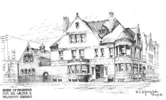 Проект дома Уолтера Ньюберри (1889)