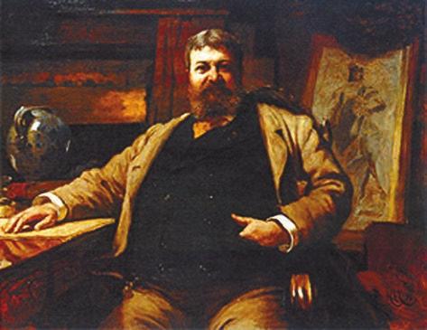 Сэр Губерт фон Геркомер. Портрет Ричардсона (1886)