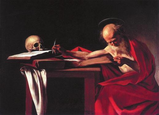 Караваджо. Святой Иероним (1606)