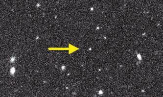 Движение V774104 на фоне звезд. Subaru Telescope by Scott Sheppard, Chad TrujIllo, and David Tholen