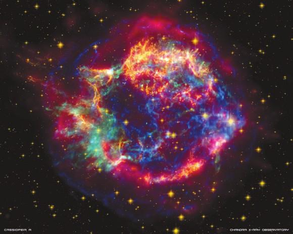 Остаток сверхновой Cas A с нейтронной звездой в центре