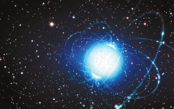 Нейтронная звезда (рисунок) ESO/L.Calcada https://www.eso.org/public/images/eso1415a
