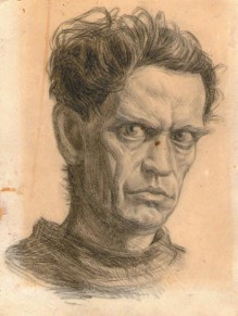Автопортрет Л. Премирова. Карандаш
